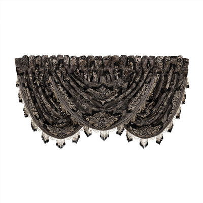 Windham Black Waterfall Window Valance Window Valance By J. Queen New York