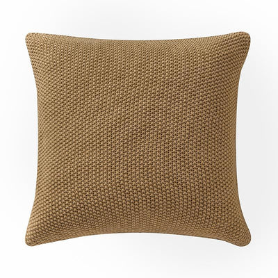 "Windham Straw Knit Pillow 18"" x 18"" Throw Pillows By Waterford"