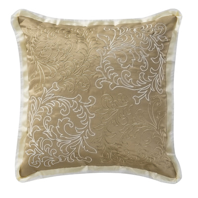 "Ansonia Ivory Square Dec Pillow 16""W x 16""L Throw Pillows By Waterford"