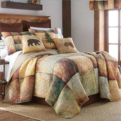 Wood Patch 3-Piece Cotton Quilt Set [Luxury comforter Sets] [by Latest Bedding]