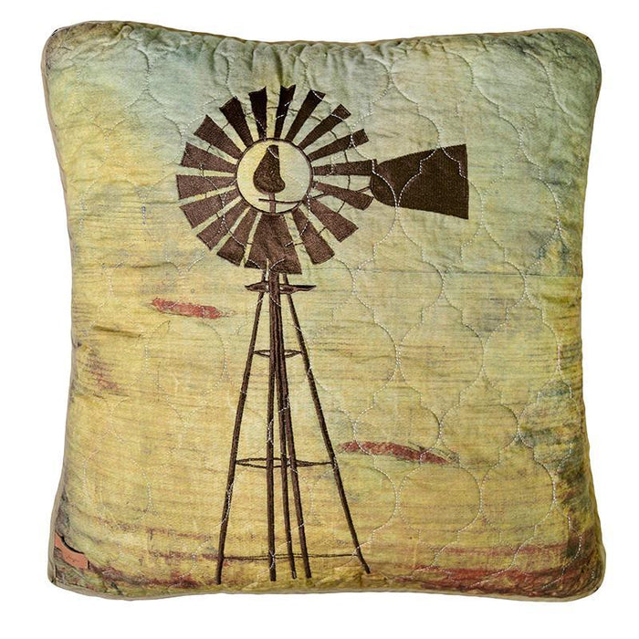 Wood Patch Decorative Windmill Pillow