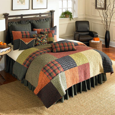 Woodland Square 3-Piece Cotton Quilt Set [Luxury comforter Sets] [by Latest Bedding]