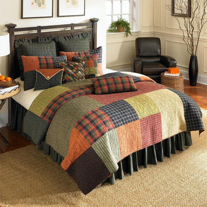 Woodland Square 3-Piece Cotton Quilt Set