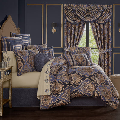 Woodstock Indigo 4-Piece Comforter Set [Luxury comforter Sets] [by Latest Bedding]