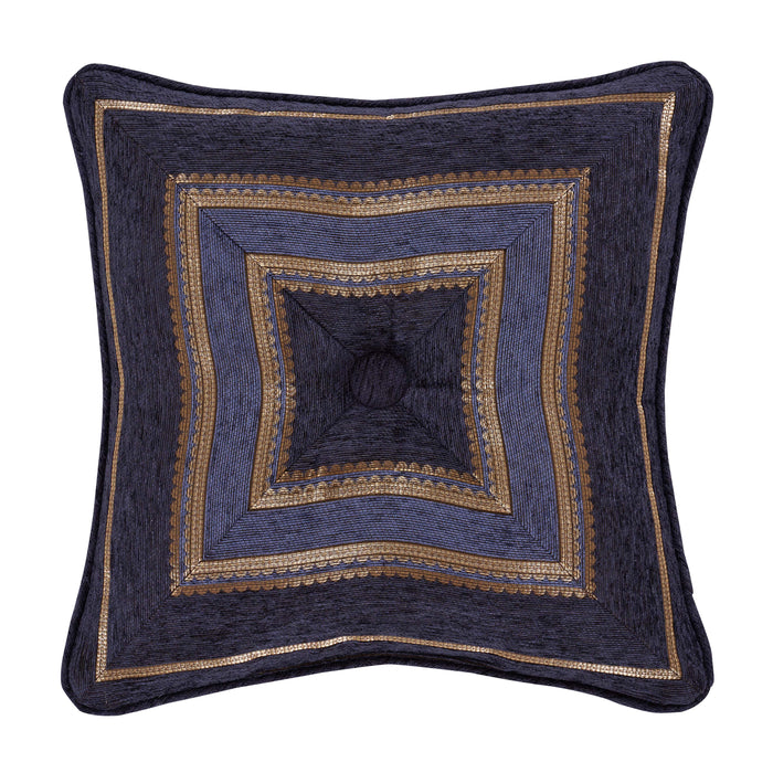 "Woodstock Indigo Square Decorative Throw Pillow 18"" x 18"""