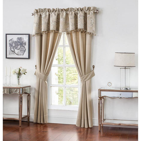 Window Panels Chantelle Taupe Pole Top Pair by Waterford [Luxury comforter Sets) ( by Latest Bedding)]