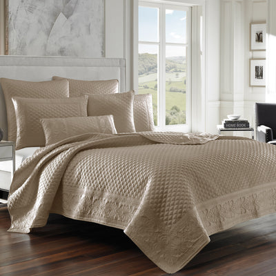 Zilara Taupe Coverlet [Luxury comforter Sets] [by Latest Bedding]