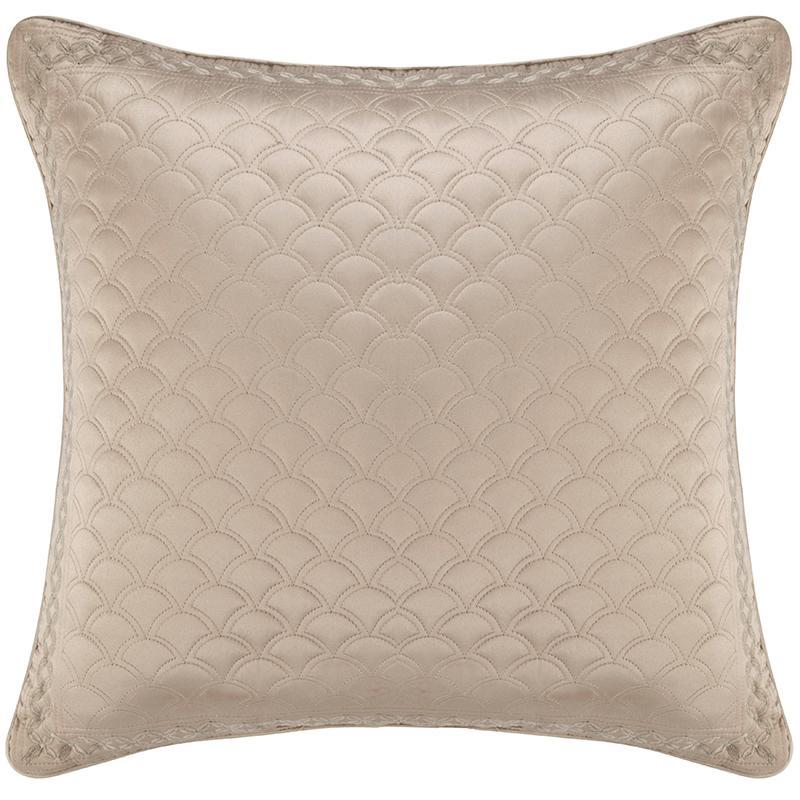 Zilara Taupe Square Decorative Throw Pillow [Luxury comforter Sets] [by Latest Bedding]