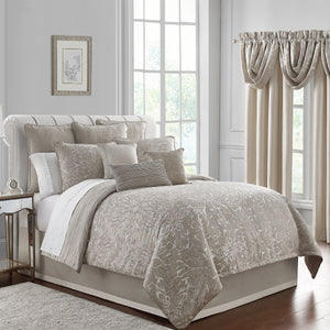 Arianna Champagne 4-Piece Reversible Comforter Set [Luxury comforter Sets] [by Latest Bedding]