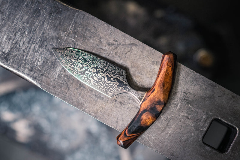 Damascus Push Dagger
