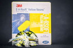 E-A-Rsoft™ Yellow Neons™ Earplugs 312-1250, Uncorded, 200 pairs per box