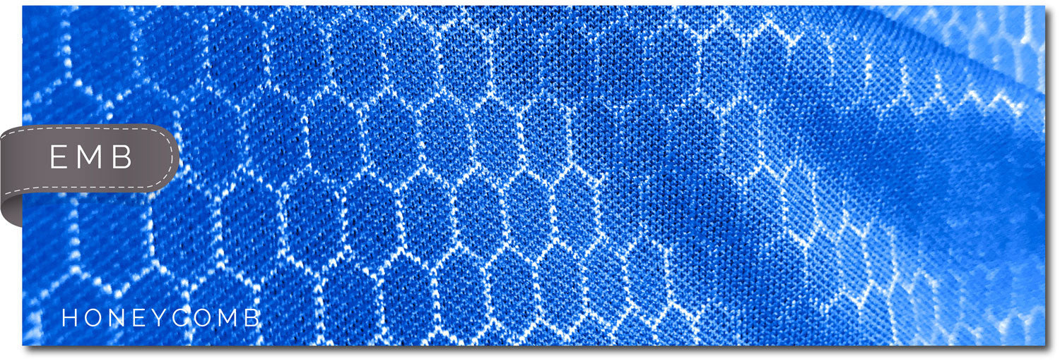 embossed honeycomb