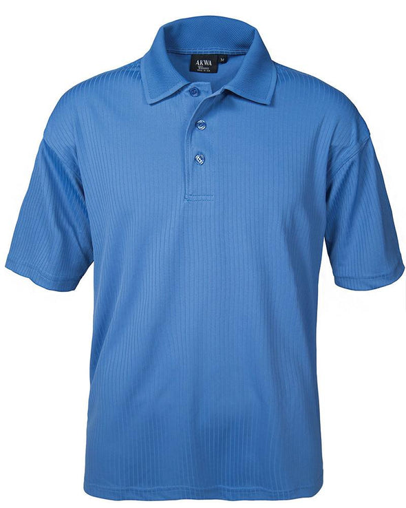 AKWA Men's Drop Needle Polyester Polo Made in USA