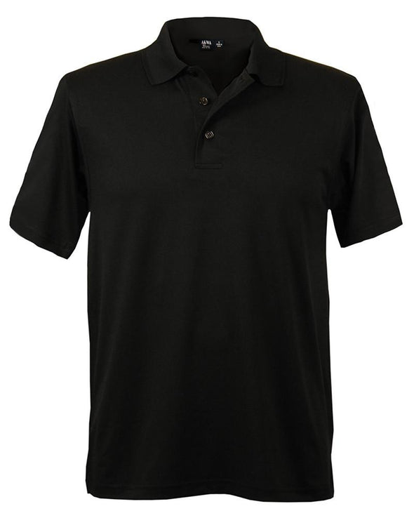 AKWA Men's Stretch Poly Jersey Polo made in usa clothing