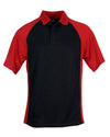 AKWA Men's Slub Pique Raglan Polo American Made POLO SHIRT
