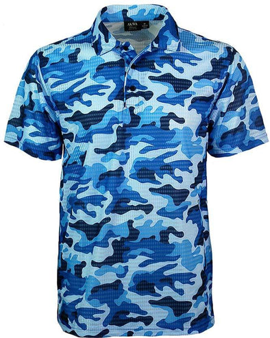 AKWA Men's Camouflage Print Polo made in usa military