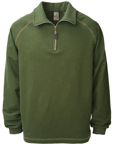 AKWA Men's 1/4 Zip Raglan Pullover American clothing