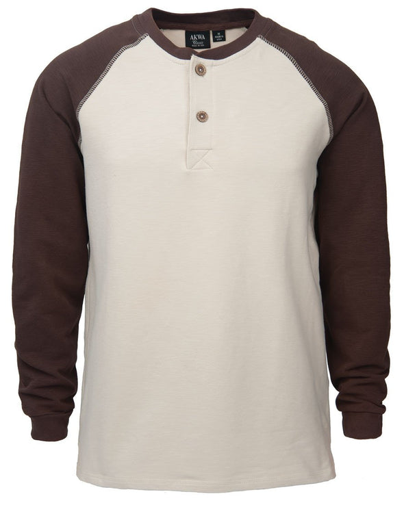AKWA Men's Raglan Henley american made clothes