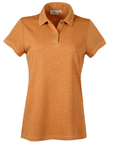 AKWA Ladies' Slub Pique Polo American made clothes