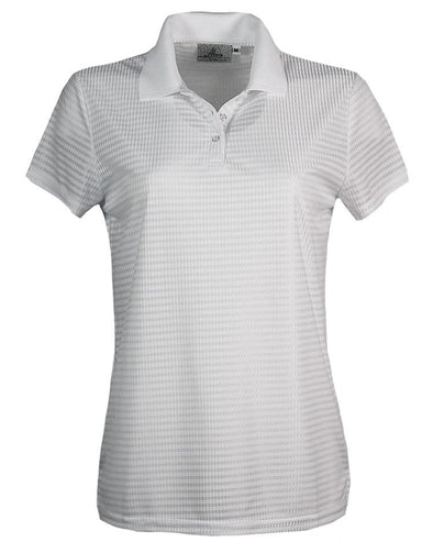 AKWA Women's Drop Needle Check Polo All American made