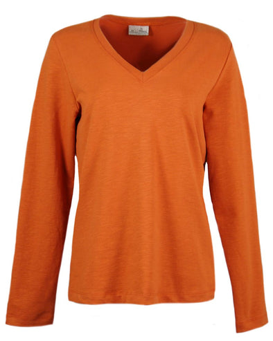 Made in USA Women's Slub Terry V-Neck Pullover
