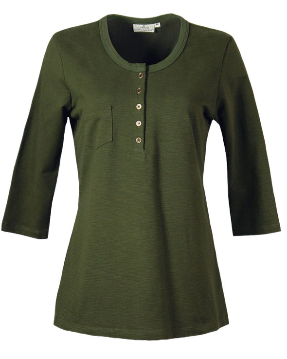Made in USA Slub Terry Women's Henley