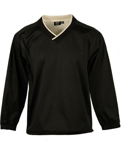 AKWA Men's Pullover Windshirt (Bonded Jersey) made in usa clothing