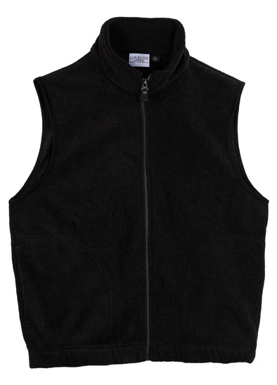 LOVE USA APPAREL Men's 100% Polyester Anti-Pilling Micro Fleece Full Zip Vest Made in USA