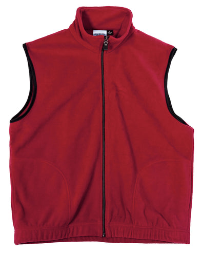 LOVE USA APPAREL Men's 100% Polyester Anti-Pilling Micro Fleece Full Zip Vest