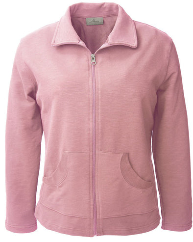 AKWA Ladies Lightweight Slub Terry Jacket made in USA