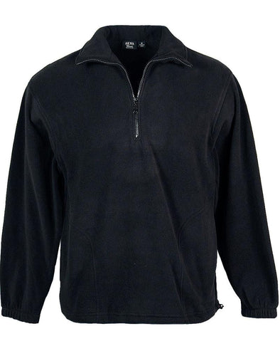 AKWA Men's Micro Fleece 1/2 Zip Pullover american made jackets