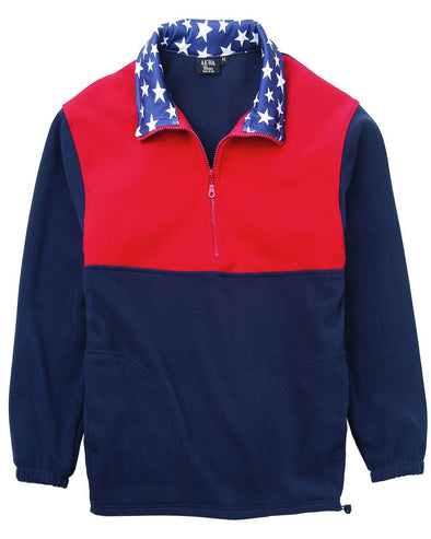 AKWA Patriotic  Micro Fleece 1/2 Zip Pullover american clothing