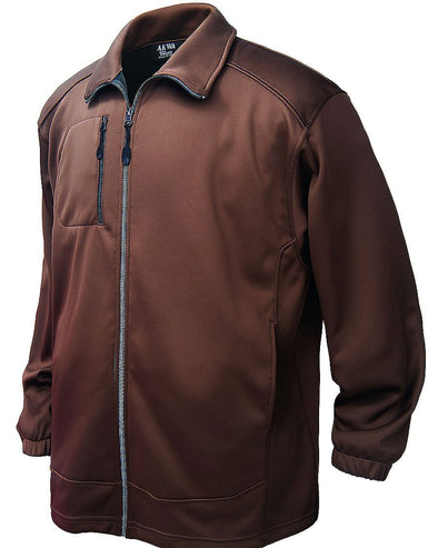 AKWA Mens Full Zip Jacket Soft Shell Fleece (with right chest pocket) american made