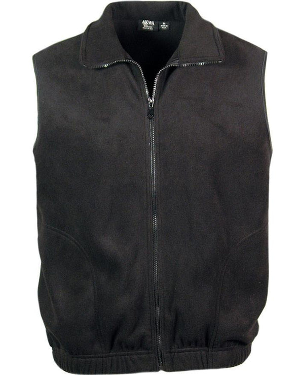AKWA Men's Micro Fleece Full Zip Vest american made vest