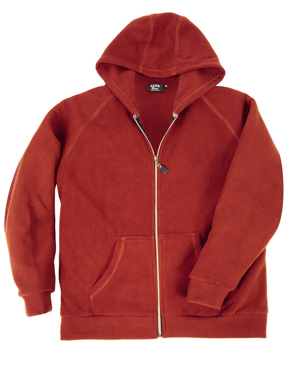AKWA Mens Full Zip Hoodie Jacket american made clothing