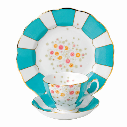 Royal Albert Mint Deco 1930 Teacup & Saucer, Plate 20cm