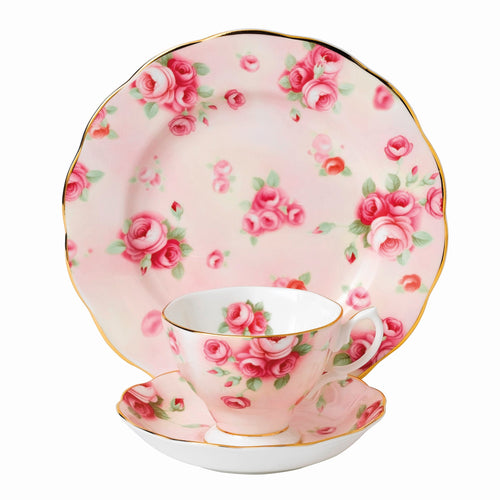 Royal Albert Rose Blush 1980 Teacup & Saucer, Plate 20cm