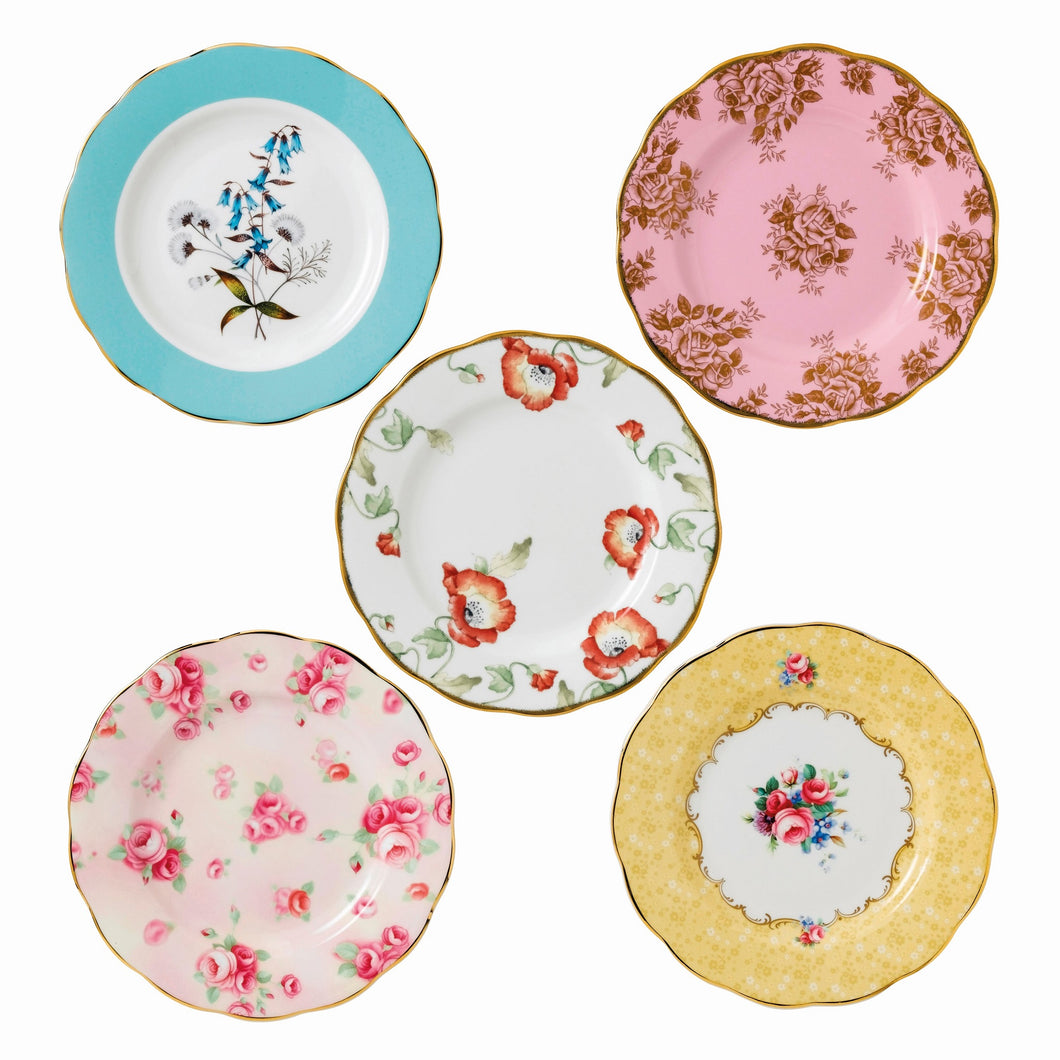 Royal Albert 1950-1990 Plate 20cm Box Set of 5