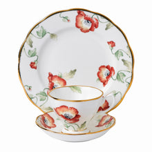 Royal Albert Poppy 1970 Teacup & Saucer, Plate 20cm