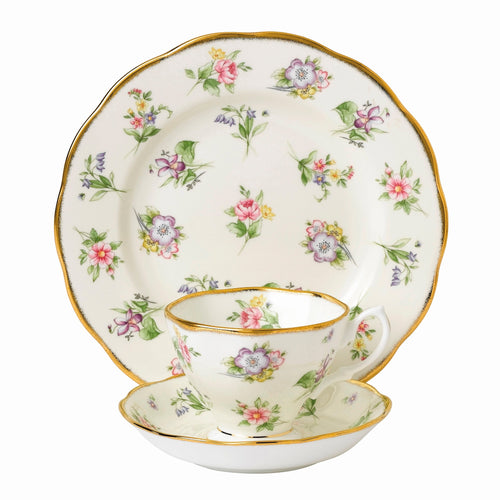 Royal Albert Spring Meadow 1920 Teacup & Saucer, Plate 20cm
