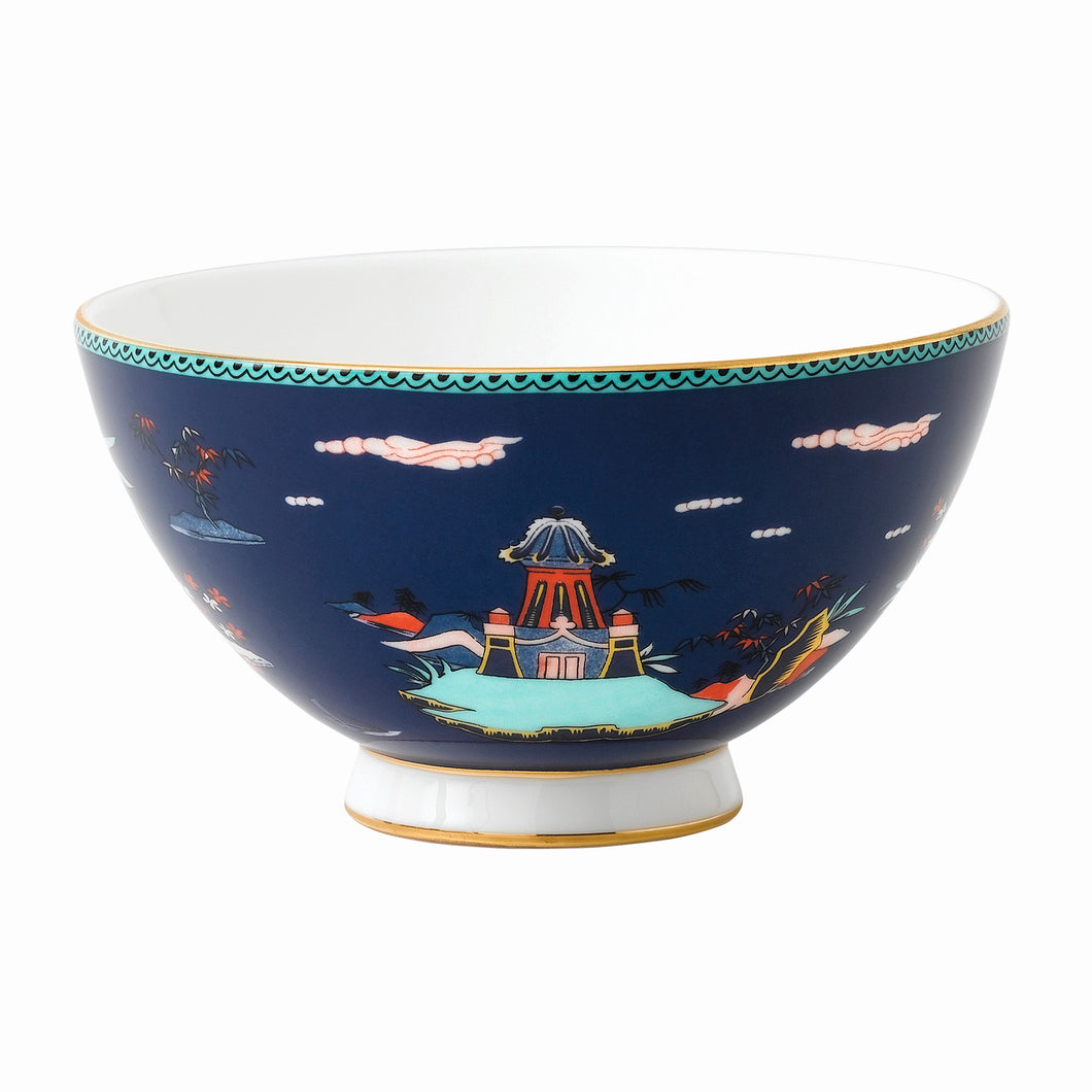 Wedgwood Blue Pagoda Bowl 11cm