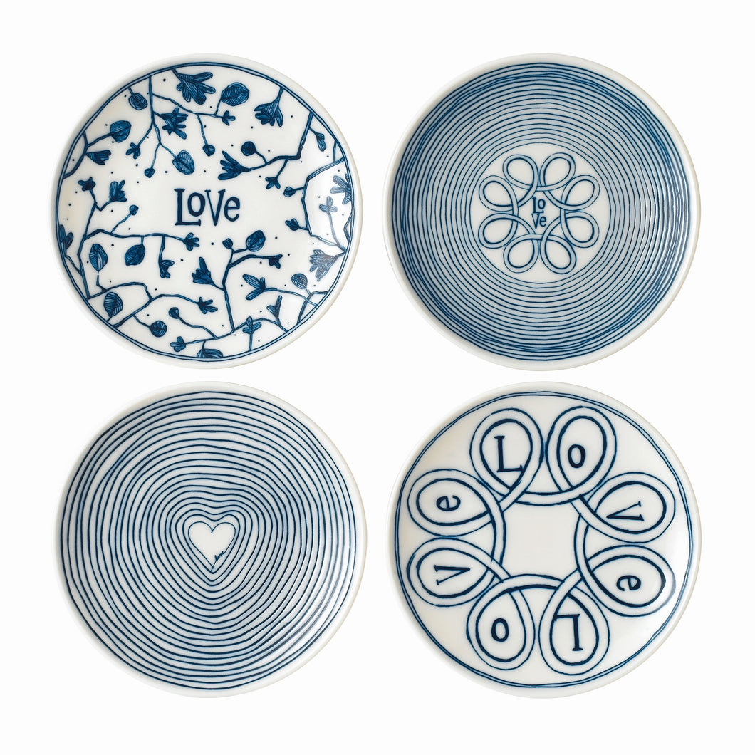 Royal Doulton Love Plate 16cm Set of 4
