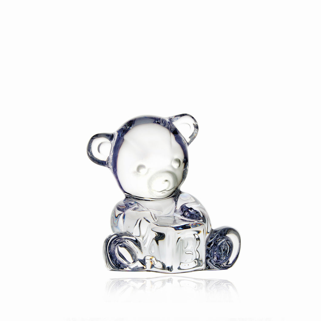Waterford Crystal Baby Bear on Block