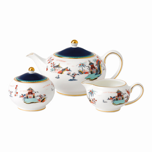 Wedgwood Teapot, Sugar & Cream Set