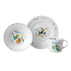 Wedgwood Peter Rabbit Plate Bowl & Mug 3 Piece Set Blue