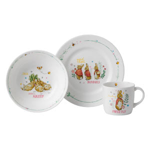 Wedgwood Peter Rabbit Plate Bowl & Mug 3 Piece Set Pink