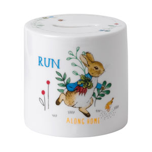 Wedgwood Peter Rabbit Money Box Blue