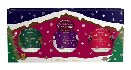 Wax Lyrical Night Before Christmas Wax Filled Tin Gift Set of 3 - LAST FEW AVAILABLE!