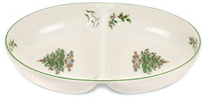 Spode Christmas Tree Divided Dish (29cm x 21.5cm) - LAST FEW AVAILABLE!