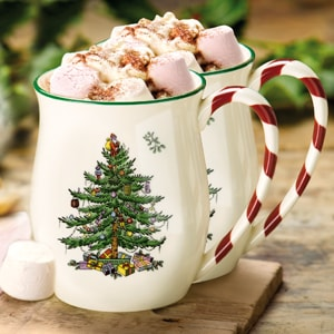 Spode Christmas Tree Candy Handled Mugs (0.4ltr) - LAST FEW AVAILABLE!